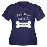Greyhound Foster Parent Women's Plus Size V-Neck D