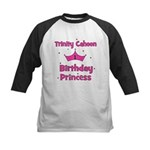Custom - First Birthday - Tri Kids Baseball Jersey