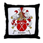 Gerster Family Crest Throw Pillow