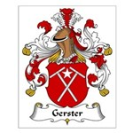 Gerster Family Crest Small Poster