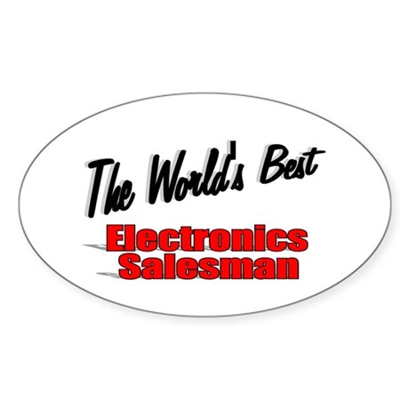 """The World's Best Electronics Salesman"" Sticker (O"