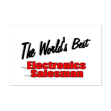 """The World's Best Electronics Salesman"" Mini Poste"