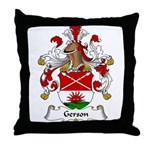 Gerson Family Crest Throw Pillow