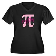 Cutie Pi Women's Plus Size V-Neck Dark T-Shirt