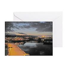 Port Angeles at Night Greeting Card