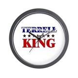 TERRELL for king Wall Clock