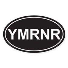 SALE! Euro YMRNR Black Oval Decal