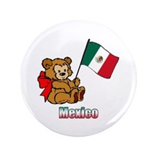 "Mexico Teddy Bear 3.5"" Button (100 pack)"