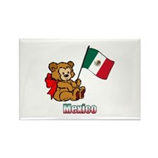 Mexico Teddy Bear Rectangle Magnet