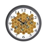 Honey Bees Wall Clock