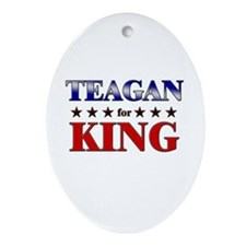 TEAGAN for king Oval Ornament