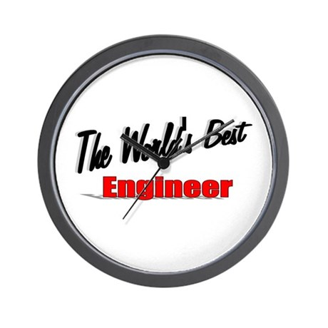 """The World's Best Engineer"" Wall Clock"