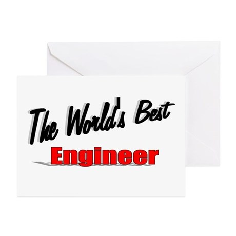 """The World's Best Engineer"" Greeting Cards (Pk of"