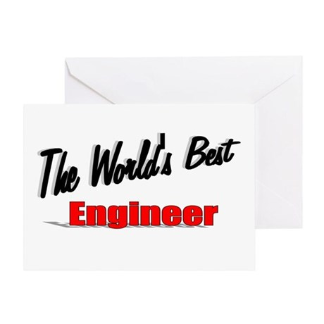 """The World's Best Engineer"" Greeting Card"