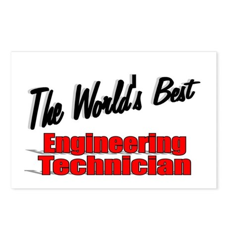 """The World's Best Engineering Technician"" Postcard"