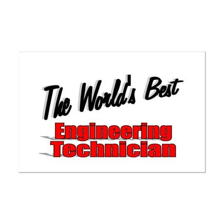 """The World's Best Engineering Technician"" Mini Pos"