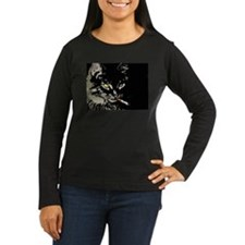 Women's Long Sleeve Kitty T-Shirt