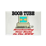 Boob Tube Rectangle Magnet (10 pack)