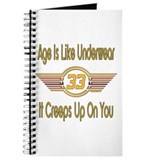 Funny 33rd Birthday Journal