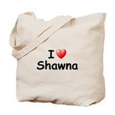 I Love Shawna (Black) Tote Bag