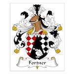 Fortner Family Crest Small Poster
