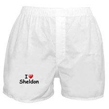 I Love Sheldon (Black) Boxer Shorts