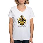 Flach Family Crest Women's V-Neck T-Shirt