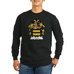 Flach Family Crest Long Sleeve Dark T-Shirt