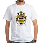 Flach Family Crest White T-Shirt