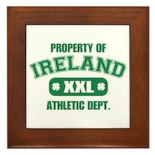 Property Of Ireland Framed Tile