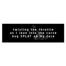 Motorcycle Haiku Bumper Bumper Sticker