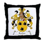 Ferber Family Crest  Throw Pillow