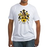 Ferber Family Crest  Fitted T-Shirt
