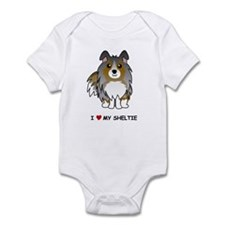 Blue Merle Sheltie Infant Bodysuit