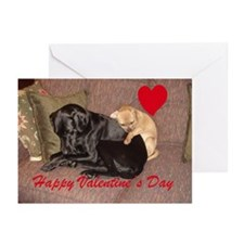 "Inseparable Pup ""Best Friends"" Valentine Greeting"