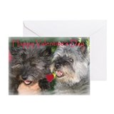 Cairn Terrier Vintage Lovers Greeting Card