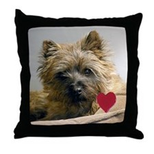 Cairn Terrier Beau Valentine Throw Pillow