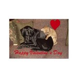 Cuddling Canines Valentine Rectangle Magnet