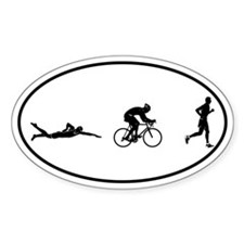 Men's Triathlon Icons Oval Decal