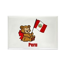 Peru Teddy Bear Rectangle Magnet