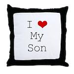 I Heart My Son Throw Pillow