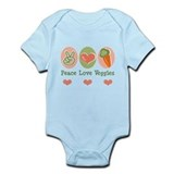 Peace Love Veggies Vegan Onesie