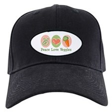 Peace Love Veggies Vegan Baseball Hat