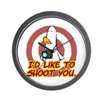 WTD: I'd like to shoot you Wall Clock