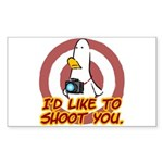 WTD: I'd like to shoot you Rectangle Sticker