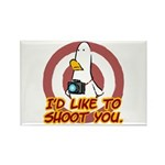 WTD: I'd like to shoot you Rectangle Magnet (10 pa