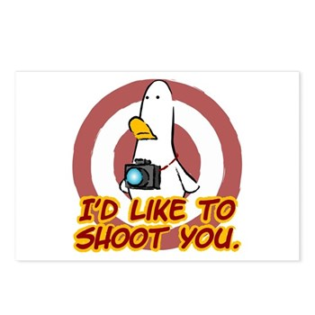 WTD: I'd like to shoot you Postcards (Package of 8