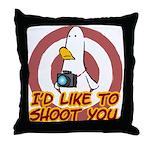 WTD: I'd like to shoot you Throw Pillow