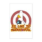 WTD: I'd like to shoot you Mini Poster Print