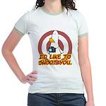 WTD: I'd like to shoot you Jr. Ringer T-Shirt